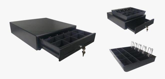 Roller cash register drawer