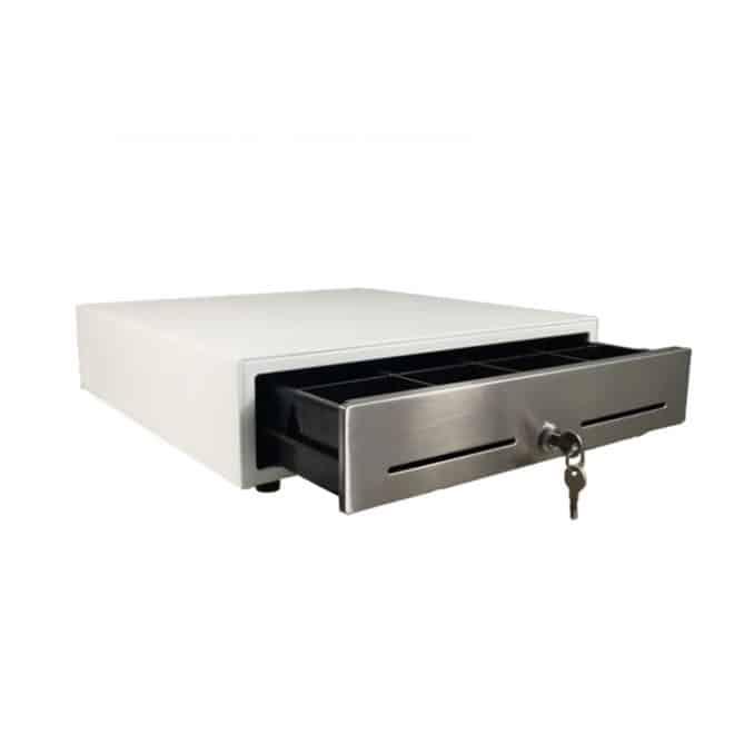 white economical cash drawer